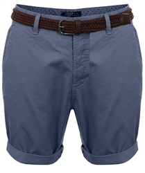 Broken Standard Powder Blue Basic Belted Chino Short