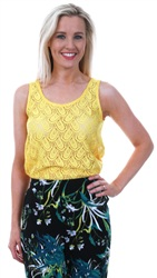 Jdy Primrose Yellow Cart Tank Top
