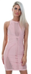 Wal/G Pink Bandage Dress