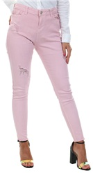 Urban Bliss Baby Pink Ripped Skinny Jeans