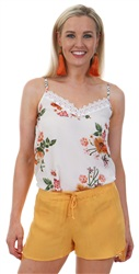 Style London White Floral Cami Top
