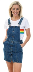 Urban Bliss Mid Blue Dungaree Denim Dress