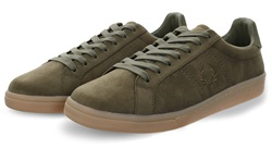 Fred Perry Burnt Olive B721 Microfibre Shoe