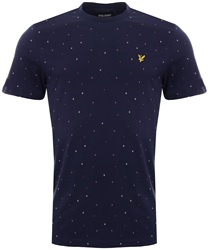 Lyle & Scott Navy Micro Print T-Shirt