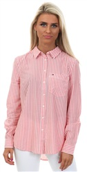 Hilfiger Denim Spiced Coral Regular Stripe Shirt