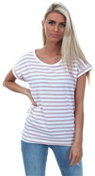 Vila Adobe Rose Dreamers Stripe Tee