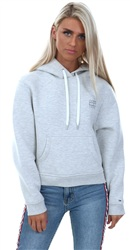 Hilfiger Denim Light Grey Cotton Blend Logo Hoodie