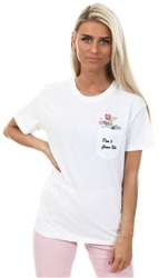 Noisy May Bright White/Flower Commando Tee