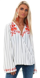 Style London White Stripe Top