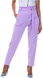 Parisian Lilac Belted Trouser