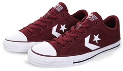 Converse Dark Burgandy/White One Star Player