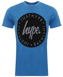 Hype Blue Lock Up Printed Tee