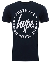 Hype Navy Lock Up Printed Tee