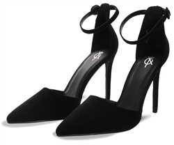 4th & Reckless Black Tuesday Suede High Heel Shoe
