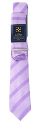 Kaymans Lilac Tie Pocket Square And Pin Set