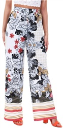 Parisian White Floral Trouser