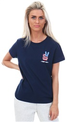Hilfiger Denim Black Iris Graphic Badge Tee