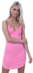 Ax Paris Pink Strappy Mini Dress