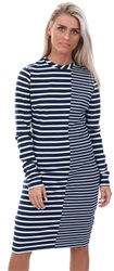 Hilfiger Denim Black/White Stripe Mix Bodycon Dress