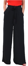 Qed Black Wide Leg Trouser