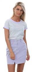 Brave Soul Grey/Lilac Claudia Tee