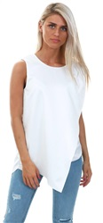 Cutie London White Long Line Top