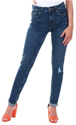 Pieces Dark Denim Betty Ripped Skinny Jean