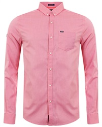 Superdry Warp Poppy Red Pinpoint Oxford Shirt