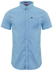 Superdry Lagoon Blue Micro Gingham Ultimate University Oxford Shirt