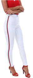 Parisian White Side Stripe Skinny Jean