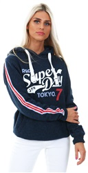 Superdry Summer Navy Collegeiate Entry Hoodie