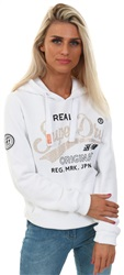 Superdry Optic White Rhinestone Patch Hoodie