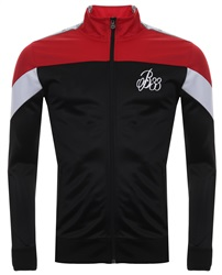 Bee Inspired Black/Red/White Colts Tape Panel Track Top