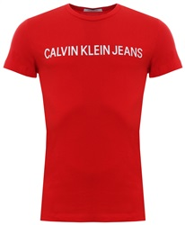 Calvin Klein Tomato Red Slim Organic Cotton T-Shirt