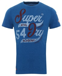 Superdry Techno Blue Marl 54 Printed Academy T-Shirt