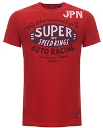 Superdry Red Reworked Printed T-Shirt