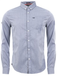 Superdry Wrap Indigo Pinpoint Oxford Shirt