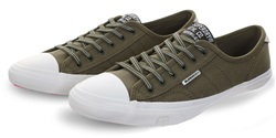 Superdry Wild Khaki Canvas Low Pro Sneaker