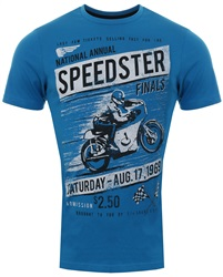 Sth Shore Swedish Blue Speedster Printed Short Sleeve T-Shirt
