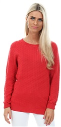 Vila Red / Tomato Puree Simple Knitted Top