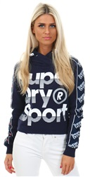 Superdry Sport Navy Sports 021 Crop Hoodie