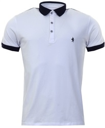 Alex & Turner White Short Sleeve Polo Shirt