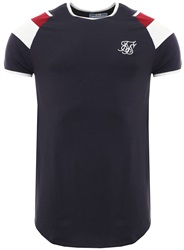 Siksilk Navy S/S Sprint Gym Tee