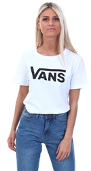 Vans White/Black Flying V Crew Neck Short Sleeve T-Shirt