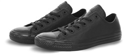 Converse Black Mono Ox Leather Trainer