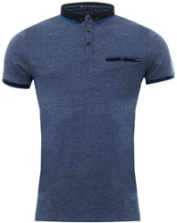 Le Shark Vespa Blue Windsor Jacquard Jersey Polo Shirt