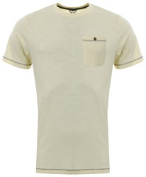 Sth Shore Pale Yellow Short Sleeve Coco Pocket Tee