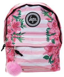Hype Floral Pom Pom Back Pack