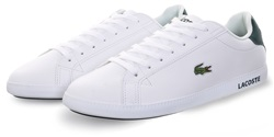 Lacoste White / Dk Green Graduate Leather Trainers