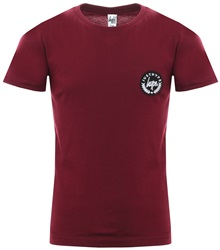 Hype Burgundy Basic Script Crest T-Shirt